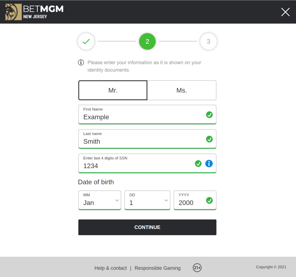 Register an account with an online sportsbook