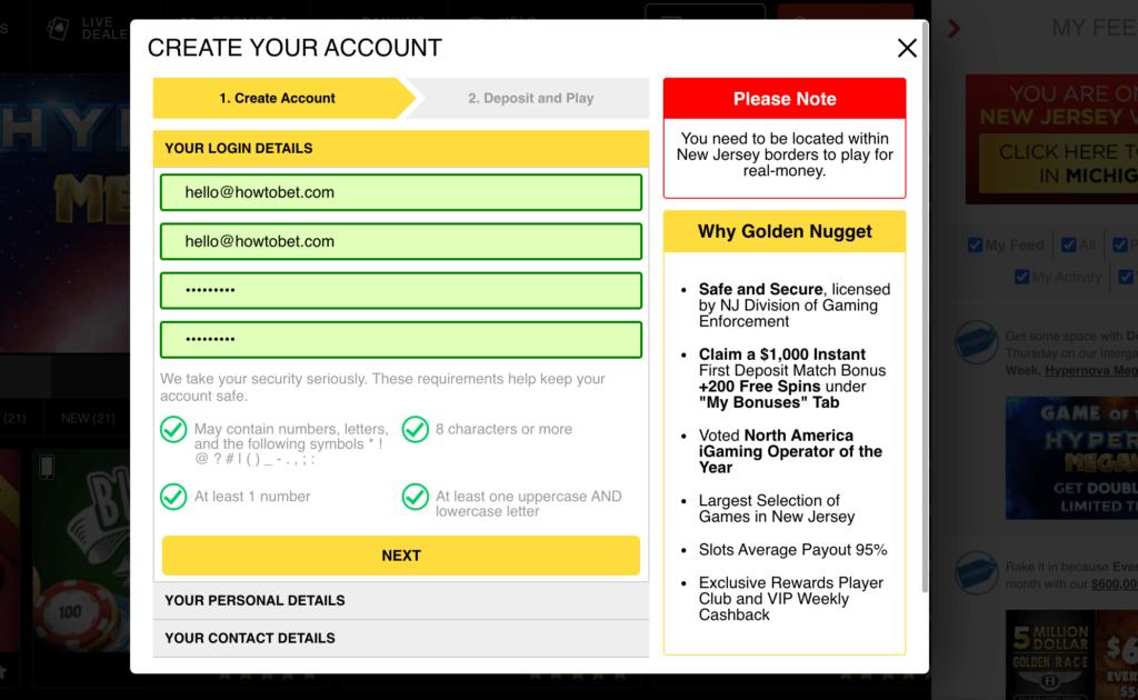 Online Casino Registration